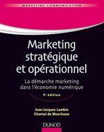 Marketing stratégique et opérationnel - 9e éd.  - Lambin+De-Moerloose - Jean-Jacques Lambin - Chantal De Moerloose