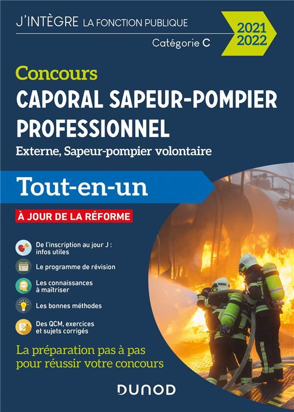 Concours sapeur-pompier professionnel ; concours externe et interne ; catégorie C (édition 2021/2022)