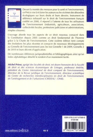 Droit de l'environnement (6e édition)