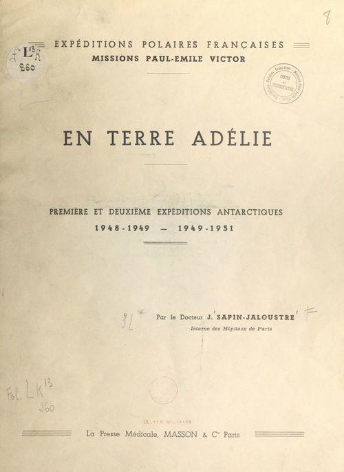 En terre Adélie
