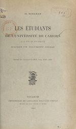 Les étudiants de l'Université de Cahors à la fin du XVe siècle  - Charles Samaran