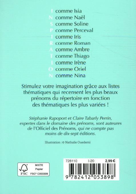Petit livre des prénoms ; 120 listes de toutes vos envies
