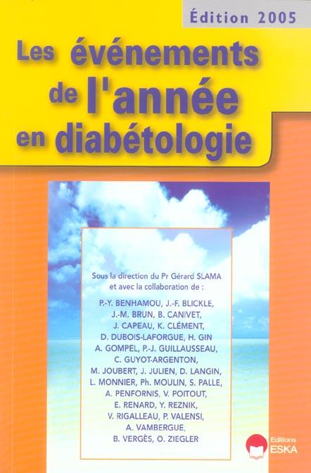 Evenem. de l'annee en diabetologie 2005 (édition 2005)