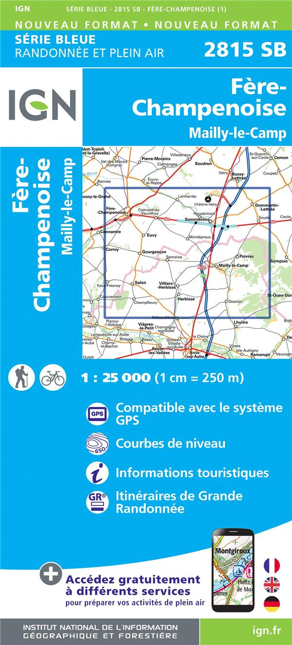 2815SB ; Fère-Champenoise, Mailly-Le-Camp