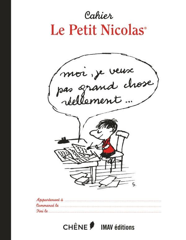Le Petit Nicolas ; cahier lettre