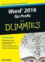 Vente Livre Numérique : Word 2016 für Profis für Dummies  - Dan Gookin