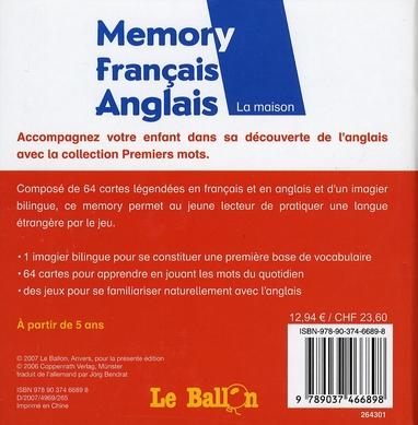Memory premiers mots de la maison