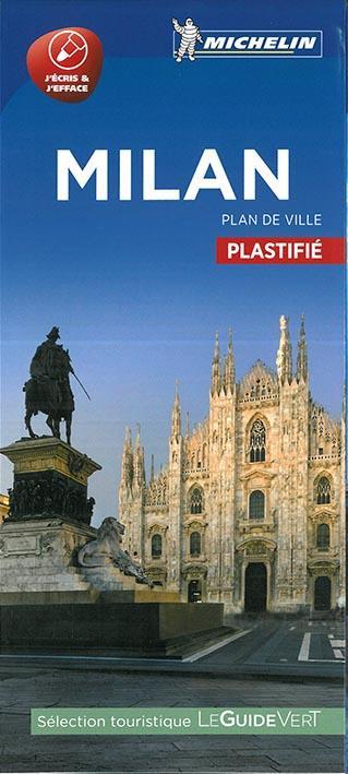 MILAN - PLAN DE VILLE PLASTIFIE