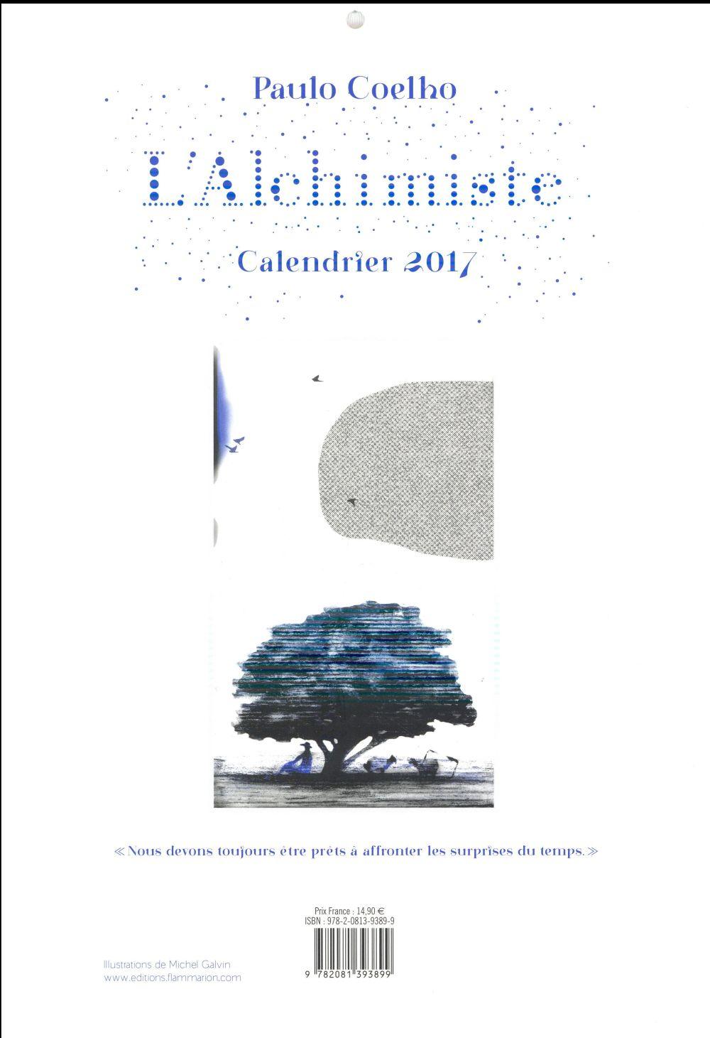 L'alchimiste ; calendrier 2017