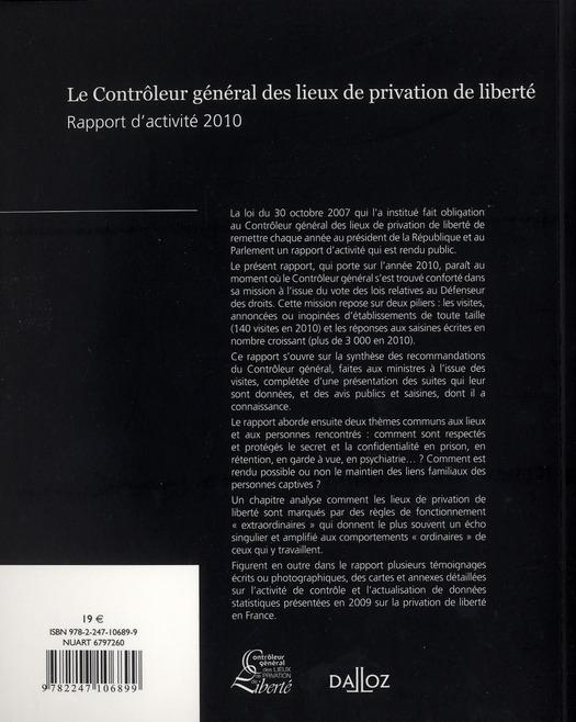 Rapport du contrôleur général des lieux de privation de liberté 2010