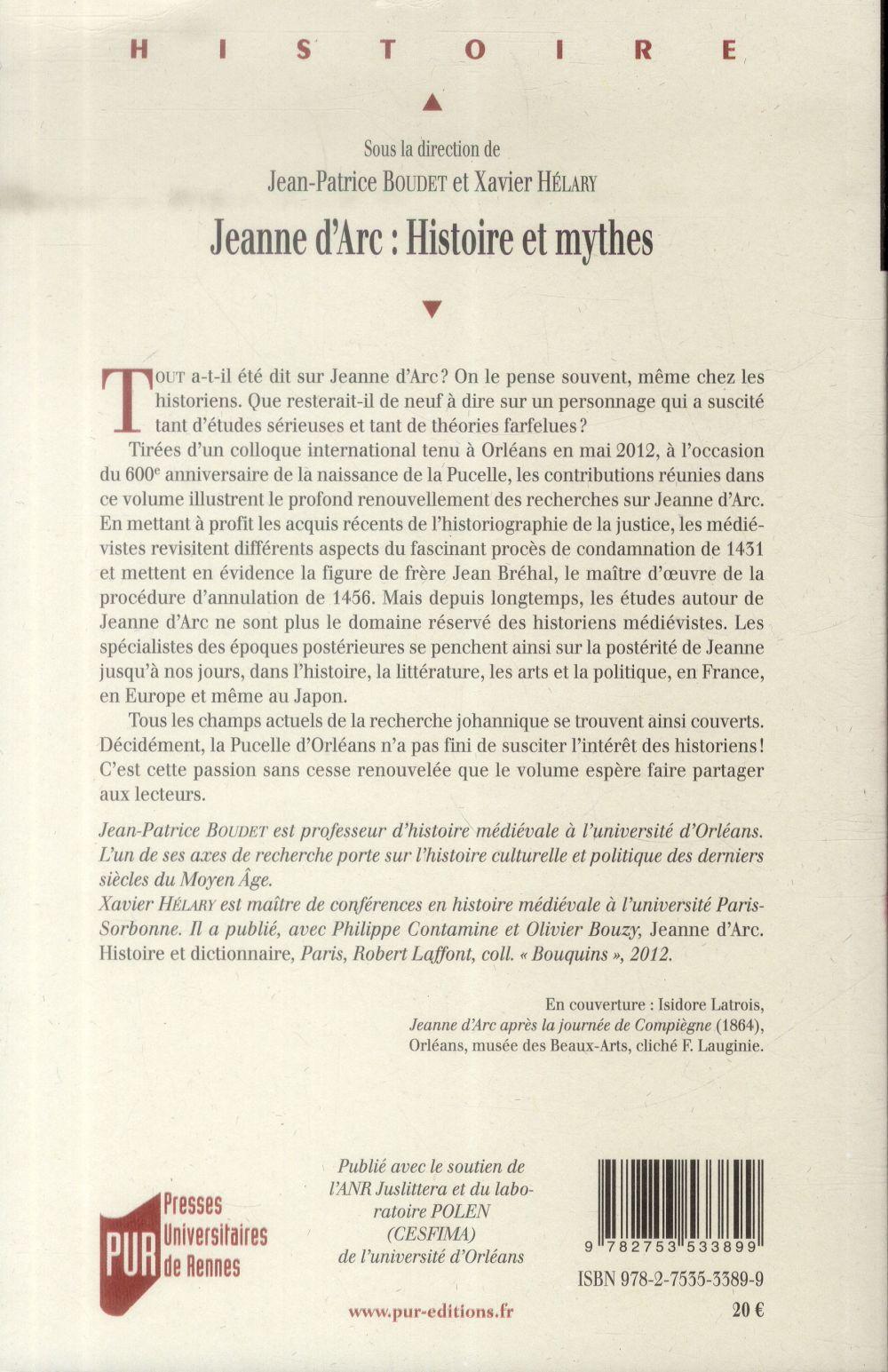 Jeanne d'Arc : histoire et mythe