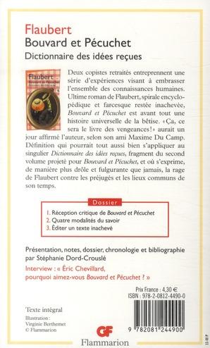 Bouvard et Pécuchet ; dictionnaire des idées reçues