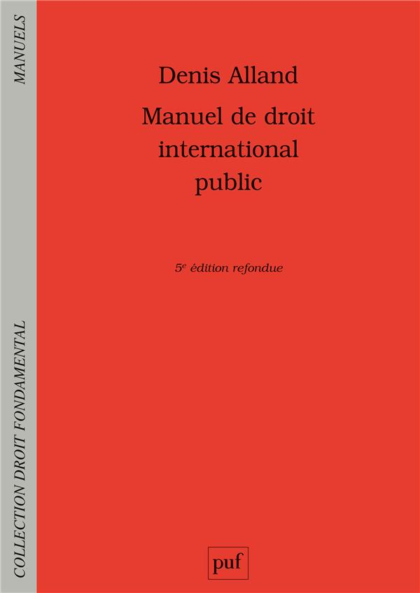 Manuel de droit international public (5e édition)