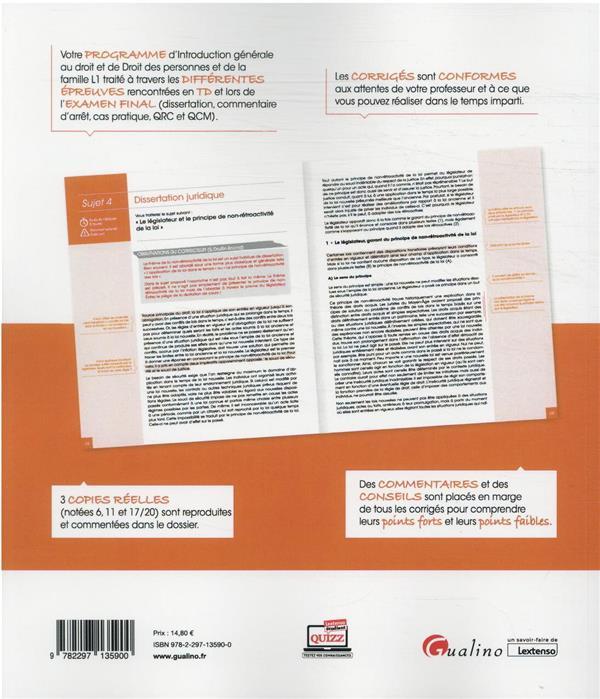 Introduction generale au droit et droit des personnes et de la famille : L1 (édition 2021/2022)