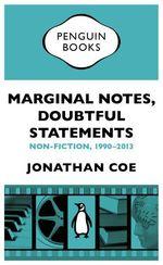 Vente Livre Numérique : Marginal Notes, Doubtful Statements  - Jonathan Coe