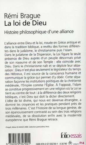 La loi de Dieu ; histoire philosophique d'une alliance