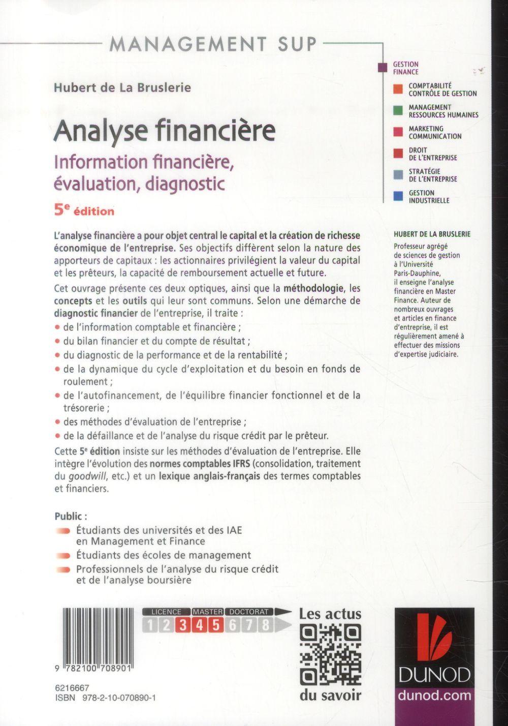 analyse financière ; information financière, évaluation, diagnostic (5e édition)