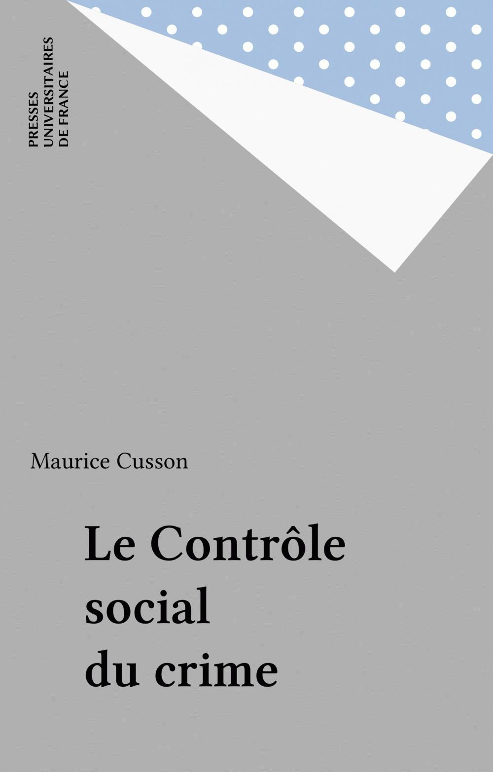 Le contrôle social du crime