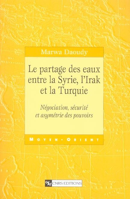 Partage des eaux entre la syrie, l'irak et la turquie