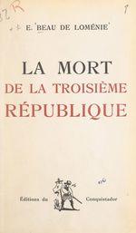 La mort de la Troisième République
