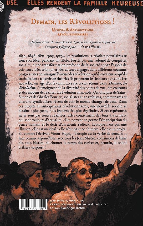 Demain, les révolutions ! ; utopies & anticipations révolutionnaires