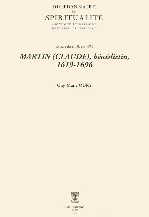 MARTIN (CLAUDE), bénédictin, 1619-1696
