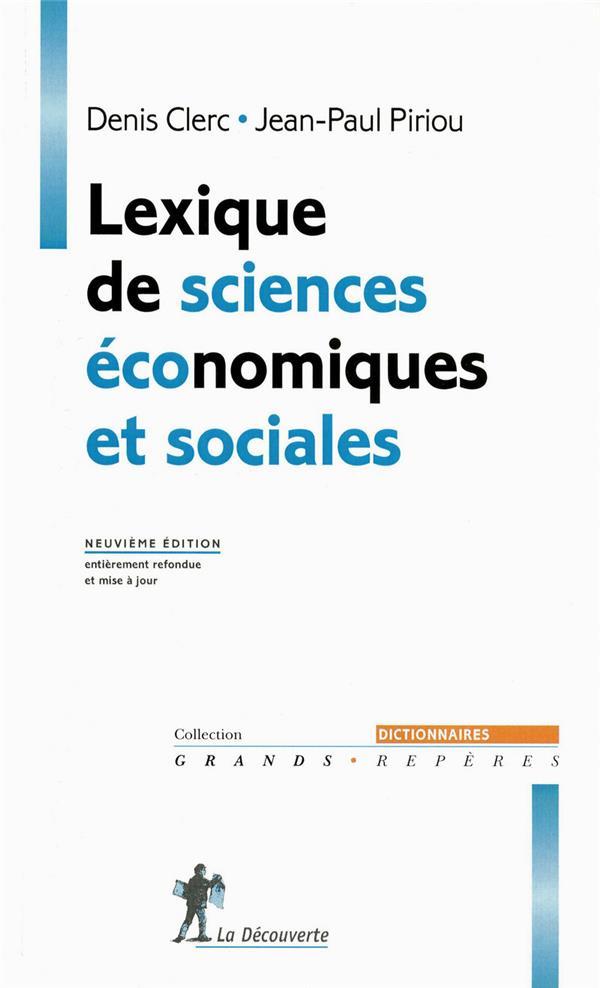 Lexique de sciences économiques et sociales (9e édition)