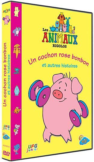 Les animaux rigolos : Un cochon rose bonbon