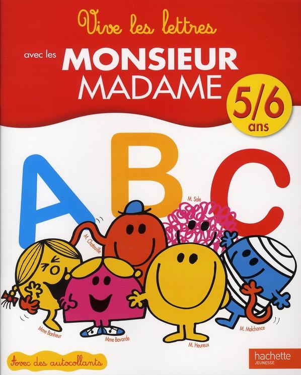 Apprends Les Lettres Avec Les Monsieur Madame