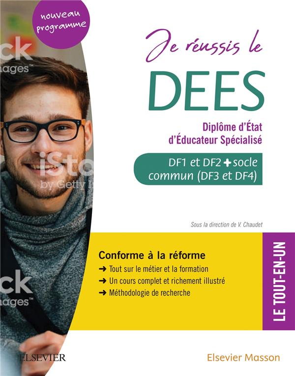 JE REUSSIS LE DEES  -  DIPLOME D'ETAT D'EDUCATEUR SPECIALISE  -  SOCLE COMMUN + OPTION. CONFORME A LA REFORME