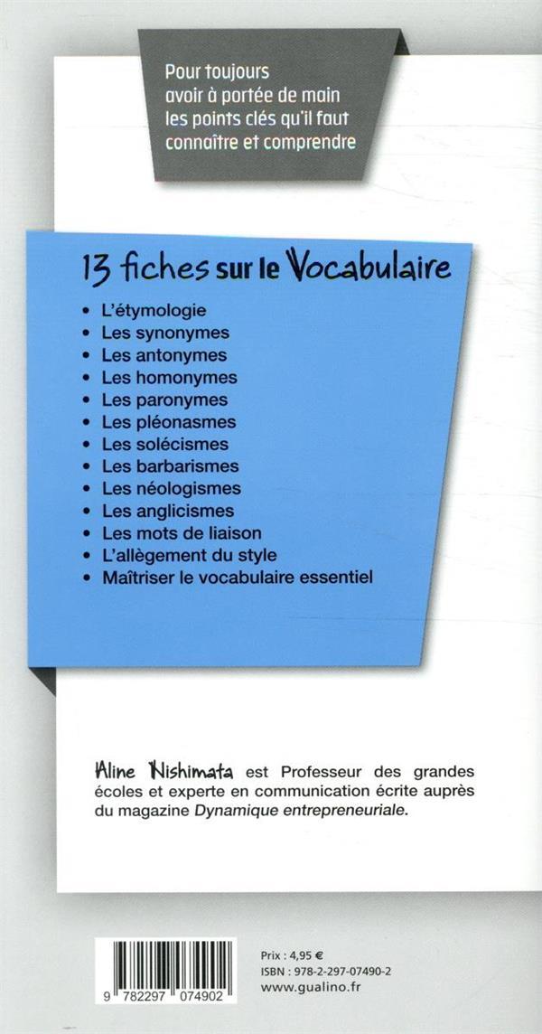 Vocabulaire (7e édition)