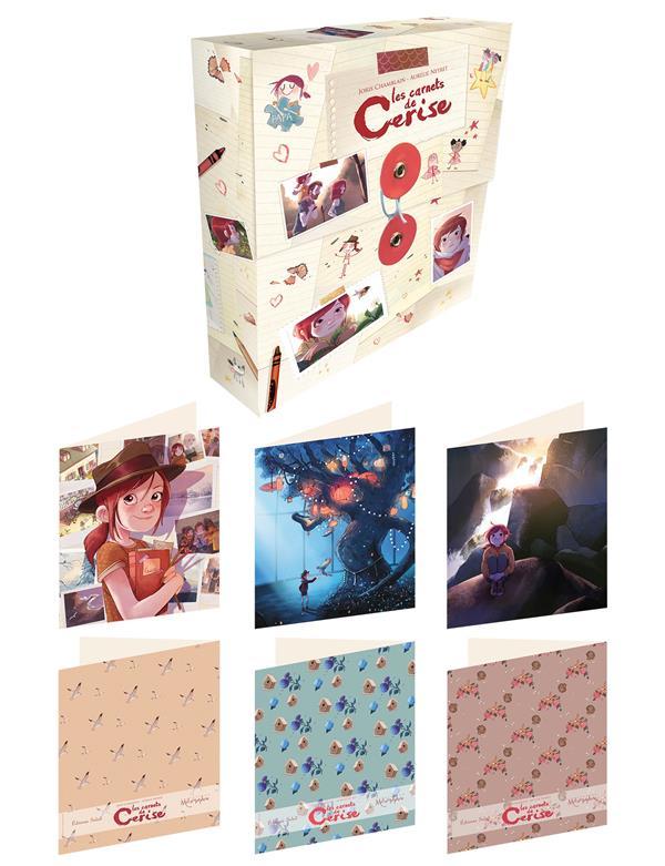 Les carnets de Cerise ; set de 12 cartes avec enveloppes