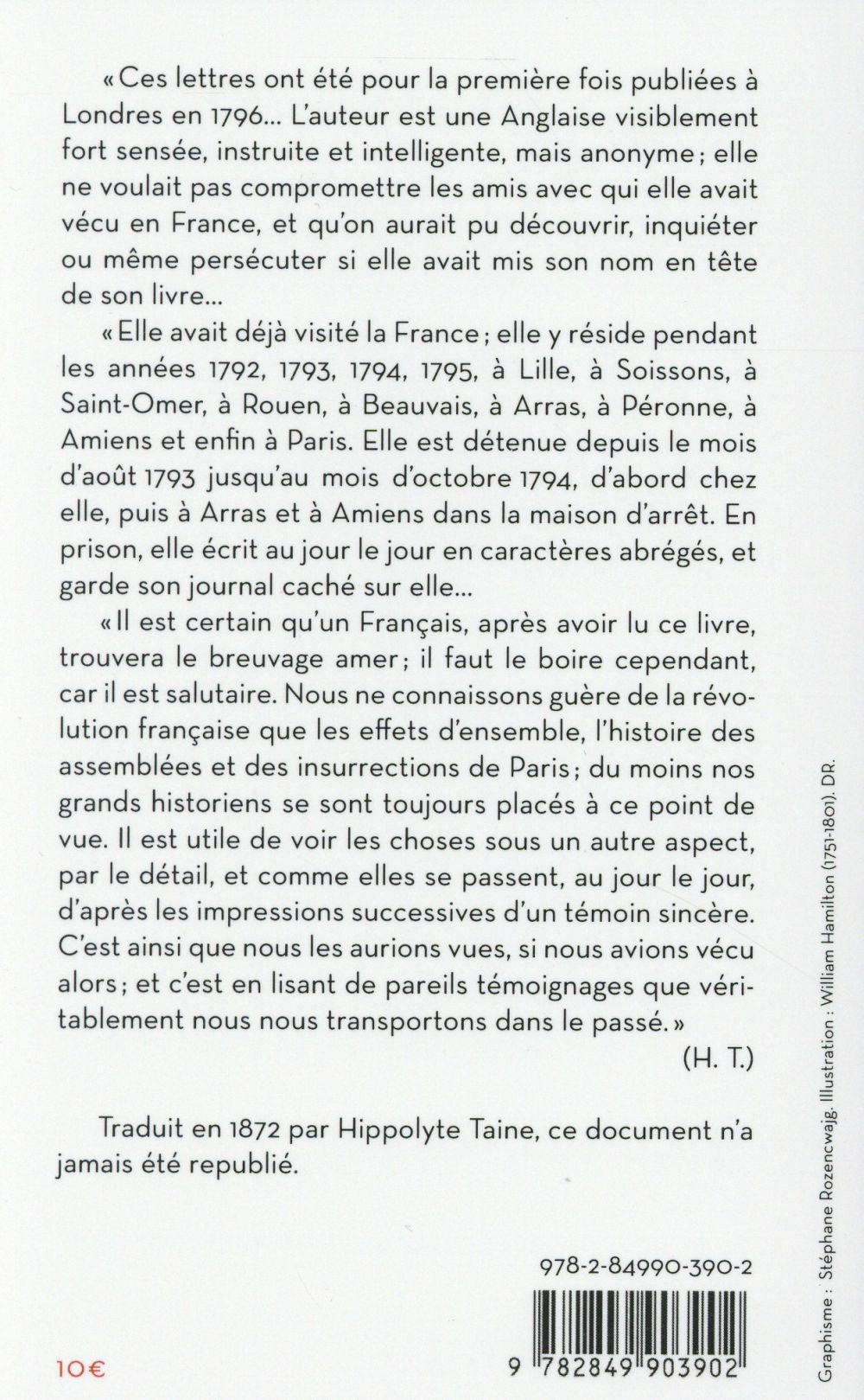 un séjour en France de 1792 à 1795 ; lettres d'un témoin de la Révolution française