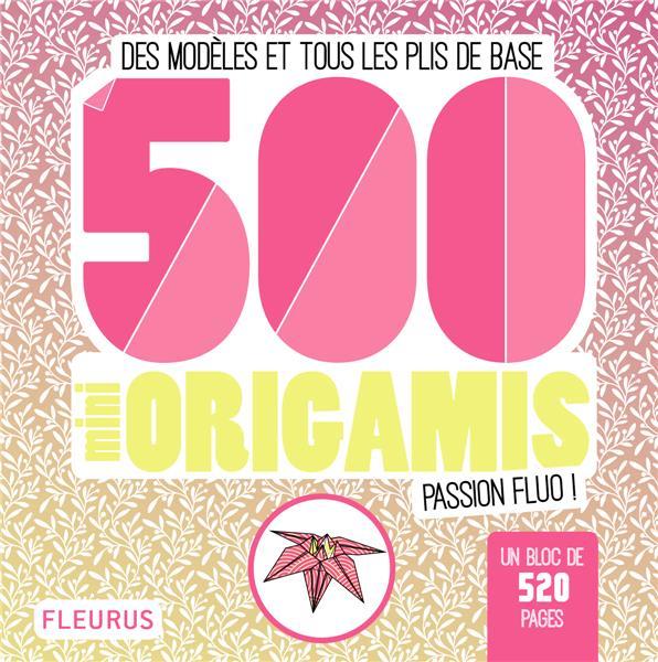 500 mini origamis passion fluo !