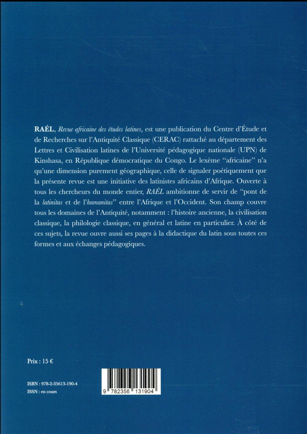 Raél ; revue africaines des études latines