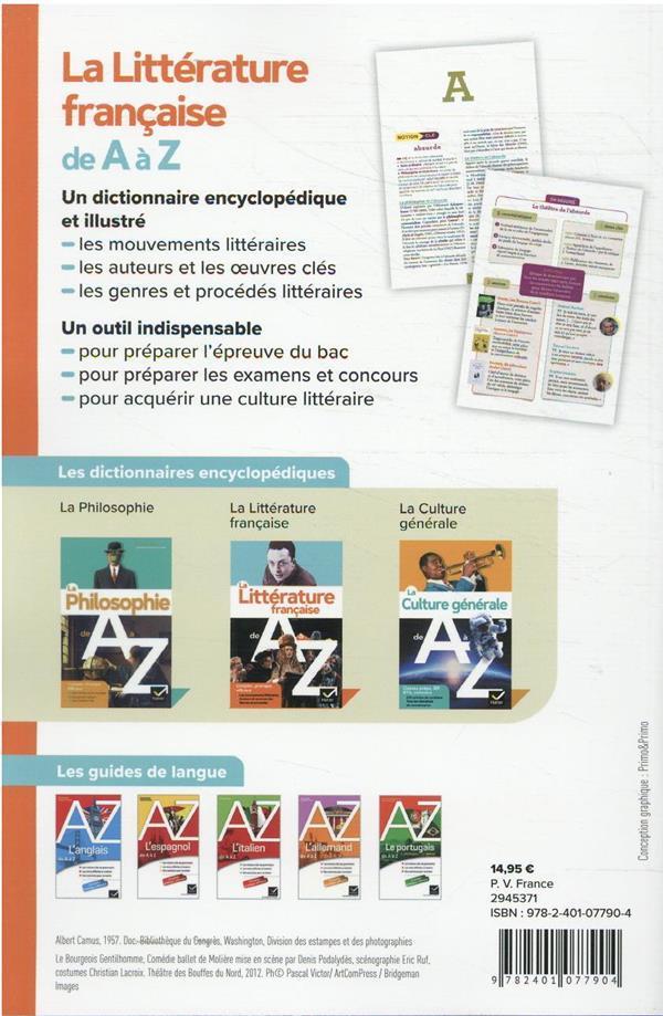 La littérature de A à Z
