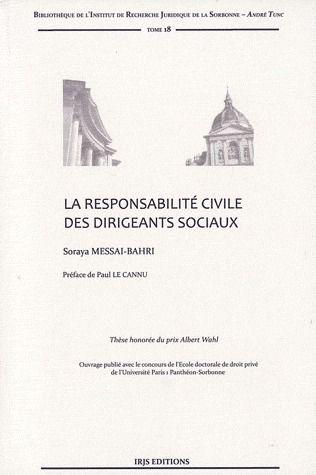 La Responsabilite Civile Des Dirigeants Sociaux