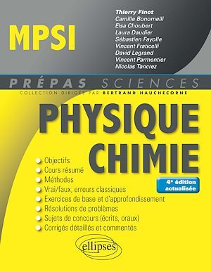 Prépas sciences ; MPSI ; physique ; chimie (4e édition)
