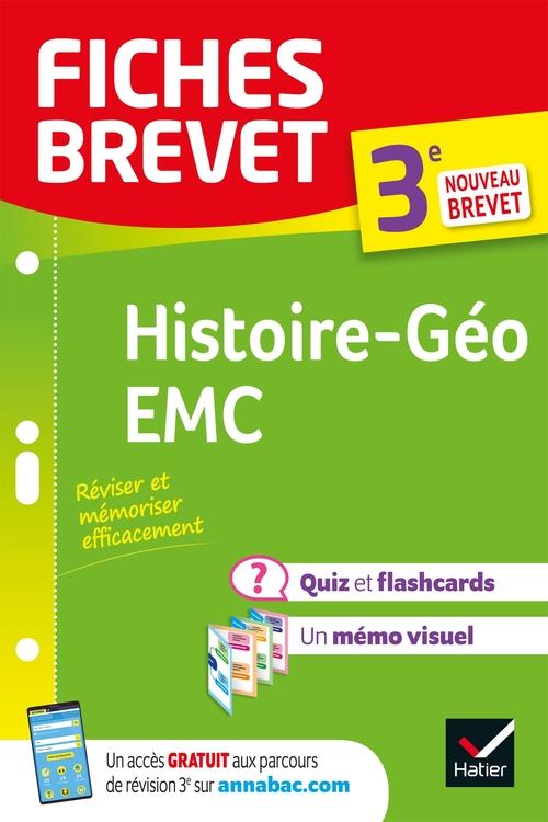 Fiches brevet ; histoire-géographie, EMC ; 3e