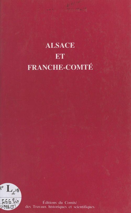 Alsace et franche comte actes des congres  113? strasbourg