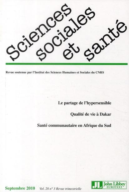 Revue sciences sociales et sante n.28