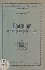 Rodemack et ses seigneurs jusqu'en 1659