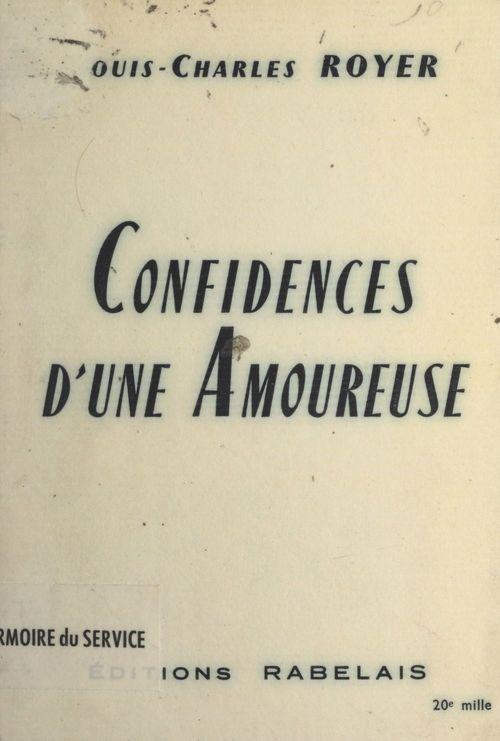 Confidences d'une amoureuse