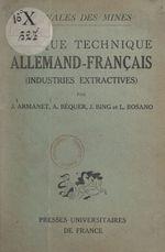 Lexique technique allemand-français  - Jean Armanet - Jean Bing - A. Béquer