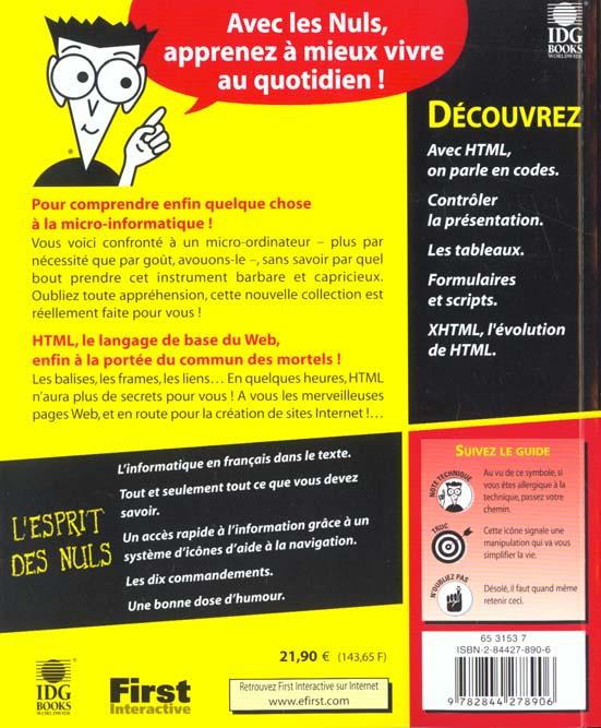 Html 4 pour les nuls ; 3e edition