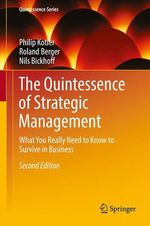 Vente Livre Numérique : The Quintessence of Strategic Management  - Roland Berger - Philip Kotler - Nils Bickhoff