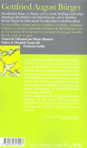 Les merveilleux voyages du baron de munchhausen/wunderbare reisen des freiherrn von munchhausen