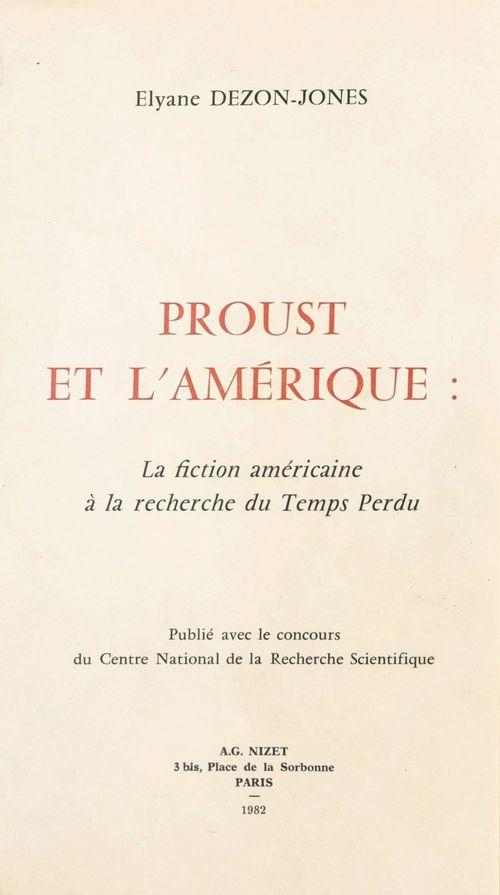 Proust et l'amerique.