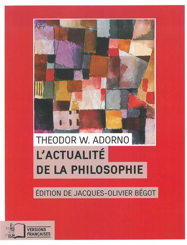 L'actualité de la philosophie