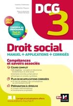 Vente Livre Numérique : DCG 3 - Droit social - Manuel et applications - Millésime 2021-2022  - Alain Burlaud - Marie-Paule Schneider - Maryse Ravat